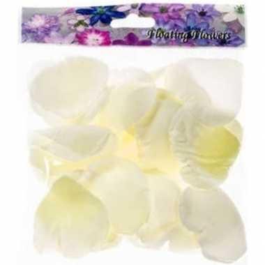36x kunstroos/kunstbloem witte rozenblaadjes versiering voor valentij