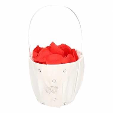 Bruidsmeisje accessoires mandje met rozenblaadjes 10107776
