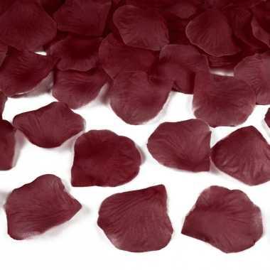 Donkerrode rozenblaadjes 500x stuks