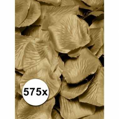 Gouden rozenblaadjes van stof 575 st
