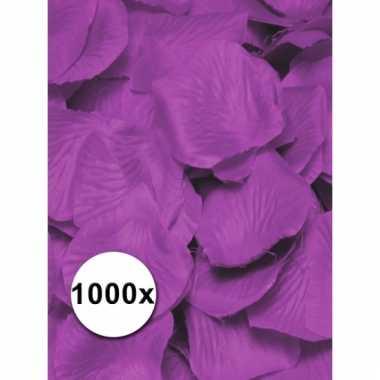 Paarse lila rozenblaadjes van stof 1000 st