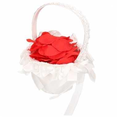 Rozenblaadjes mandje bruiloft 10114794