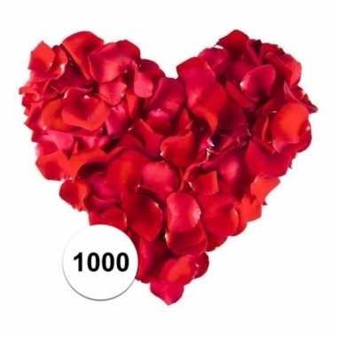 Rozenblaadjes rood 1000 stuks