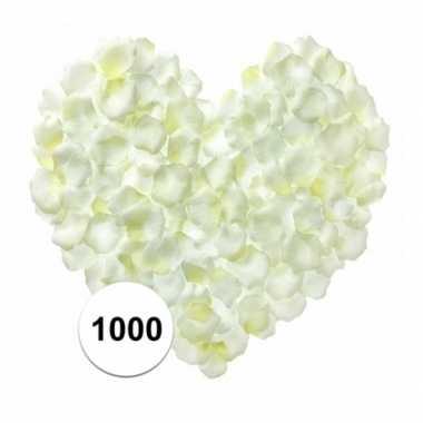 Rozenblaadjes wit 1000 stuks