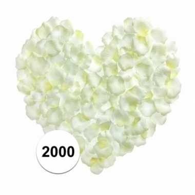 Rozenblaadjes wit 2000 stuks