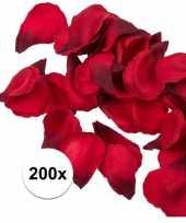 Bruiloft decoratie rode rozenblaadjes 200 stuks