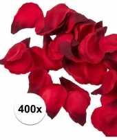 Bruiloft decoratie rode rozenblaadjes 400 stuks
