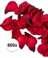 Bruiloft decoratie rode rozenblaadjes 800 stuks