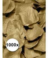 Gouden rozenblaadjes van stof 1000 st