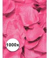 Roze rozenblaadjes van stof 1000 st