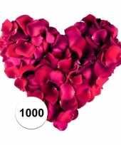 Rozenblaadjes donkerrood 1000 stuks